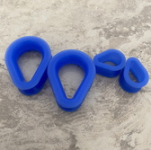 Blue Silicone Teardrop Tunnels (2g-30mm)