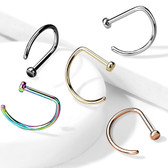 20G-18G G23 Titanium D Shape Nose Ring Hoop