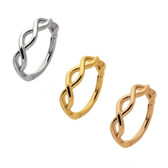 Twisted Spiral Hinged Segment Ring Hoop 16G