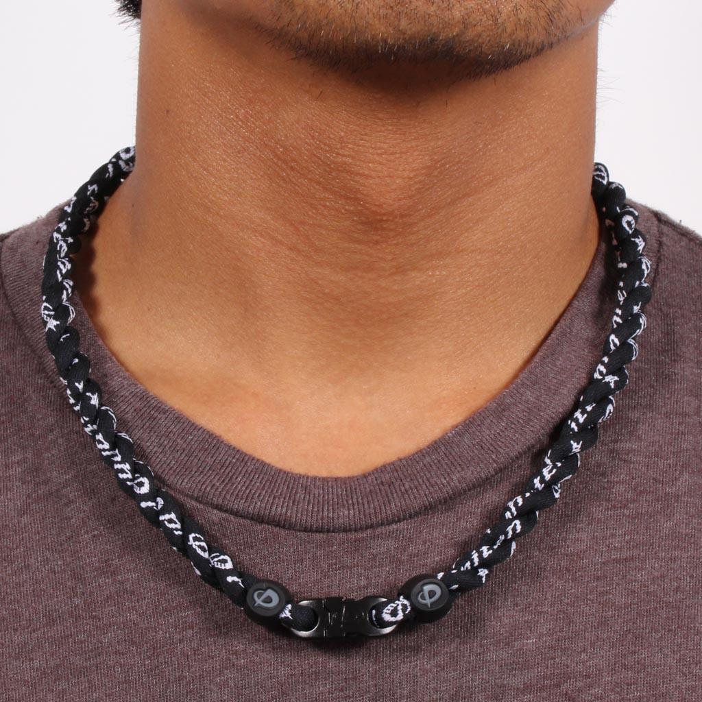 "Titanium Tornado Necklace 3 Rope New Flat Clasp Design 22/"""