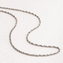 Titanium Chain Necklace Slim Type (Double)