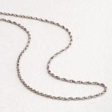 Titanium Chain Necklace Slim Type (Double)