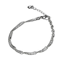 Titanium Twist Chain Bracelet