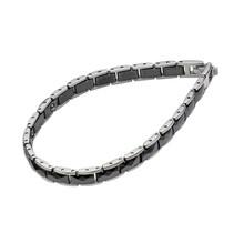 Titanium Ceramic Square Cut Bracelet