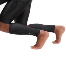 Heather Titanium Compression Calf Sleeves