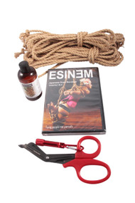 Mini standard jute rope starter kit (2 x 8m, 1 x 4m, oil)