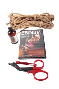 Mini standard jute rope starter kit (2 x 8m, 1 x 4m, oil)
