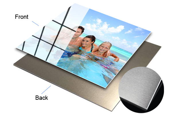 mounting photos on aluminium