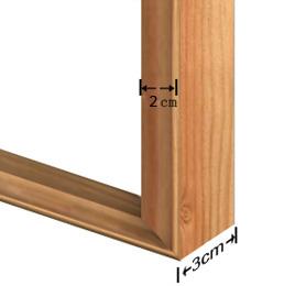 2x3cm frame