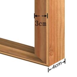 3x4cm wooden frame