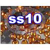 Rhinestones | SS10/2.8mm | Hotfix Rhinestone/Orange | 10 Gross