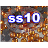 Rhinestones | SS10/2.8mm | Hotfix Rhinestone/Orange | 25 Gross