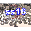 Rhinestones | SS16/4.0mm | Black Diamond | 100 Gross
