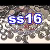 Rhinestones   SS16/4.0mm   Black Diamond   100 Gross