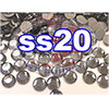 Rhinestones | SS20/5.0mm | Black Diamond | 25 Gross