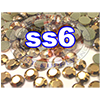 Rhinestones | SS6/2.0mm | GoldHemetite | 100 Gross