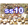 Rhinestones | SS10/2.8mm | GoldHemetite | 25 Gross