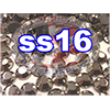 Rhinestones | SS16/4.0mm | Hemetite | 25 Gross