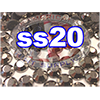 Rhinestones | SS20/5.0mm | Hemetite | 25 Gross
