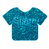 Glitter | 20 x 12 Inch | Aqua | Sheets -Bulk savings Per Sheet
