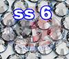 Rhinestones   SS6/2.0mm   Crystal(Clear)   5 Gross