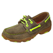 Kid's Driving Mocs Neon Yellow YDM0005