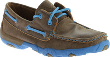 Womens Twisted X Driving Mocs Neon Blue