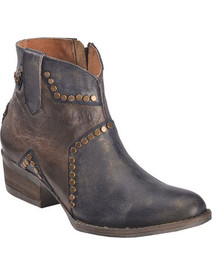 Ladies Circle G by Corral Blue Star Inlay & Stud Ankle Boots