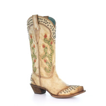 Saddle Nopal Embroidered Boots C2485