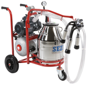 Portable Milking Machine - Single cluster Single bucket