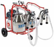 Portable Milking Machine - Dual cluster Dual bucket
