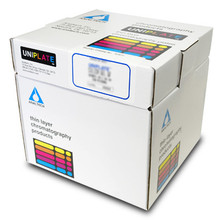 Alumina GF 250um 20x20cm scored (2.5x20cm) (25 plates/box) P04311