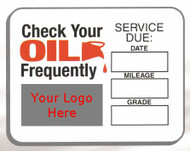 Lube Reminder Stickers/Dealer Imprint 2 Rolls Minimum FREE SHIPPING