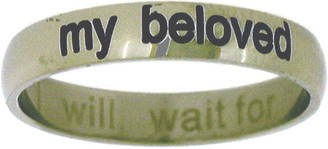 "STAINLESS STEEL ""I WILL WAIT FOR MY BELOVED"" PURITY RING STYLE 370"