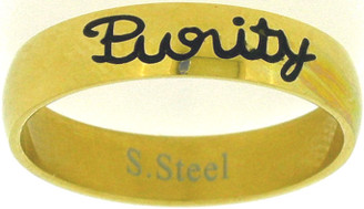"STAINLESS STEEL GOLD ""PURITY"" RING STYLE 361"