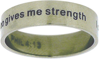 "STAINLESS STEEL ""PHIL 4:13 I can do everything through him who gives me strength"" RING STYLE 379"