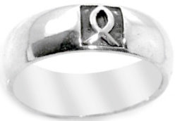 STAINLESS STEEL ICHTHUS WITH ENAMELED BACKGROUND RING STYLE 383