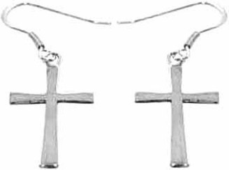 STERLING SILVER MALTA CROSS EARRINGS W/STERLING SILVER HOOKS