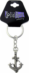 JUMBO PEWTER ANCHOR CROSS KEY CHAIN