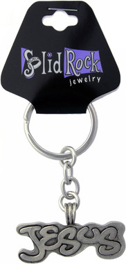 JUMBO PEWTER JESUS KEY CHAIN