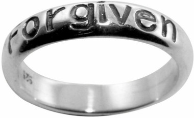 "STERLING SILVER OXIDIZED ""Forgiven"" RING STYLE 800"