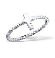 Cross - 925 Sterling Silver Plain Ring