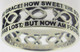 "STERLING SILVER CUTOUT ""AMAZING GRACE"" JESUS ICHTHUS (FISH) CHRISTIAN RING STYLE 837."
