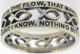 "STERLING SILVER CUTOUT ""AMAZING GRACE"" JESUS ICHTHUS (FISH) CHRISTIAN RING STYLE 838."