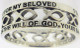 "STERLING SILVER ""I WILL WAIT FOR MY BELOVED     1 THESSALONIANS 4:3"" PURITY CUTOUT ICHTHUS RING STYLE 841."