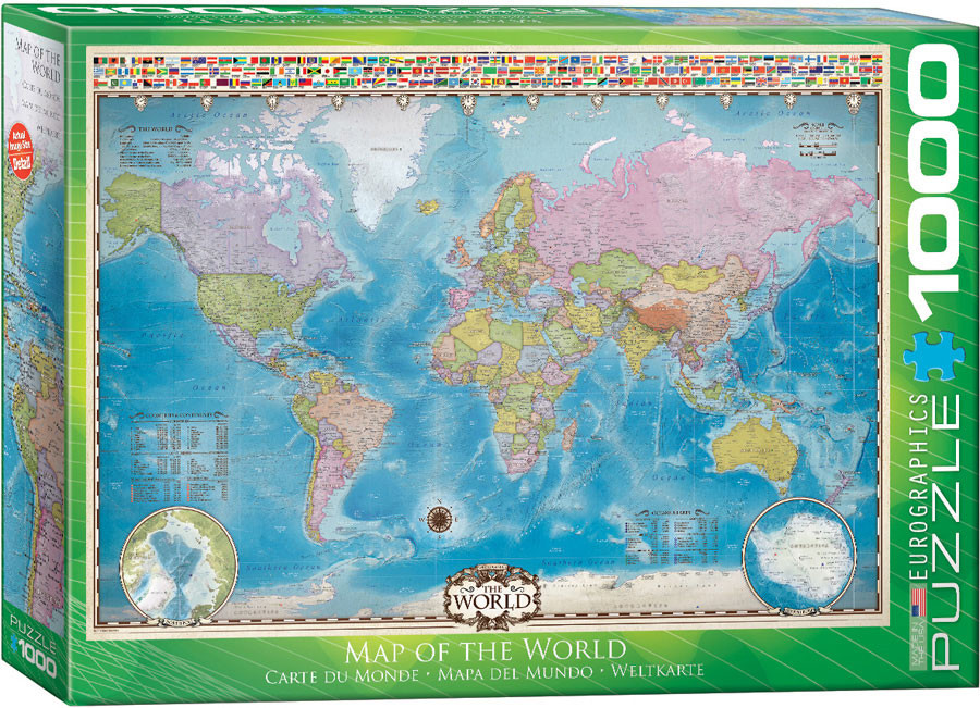 100 Pieces Eurographics World Map MO Puzzle