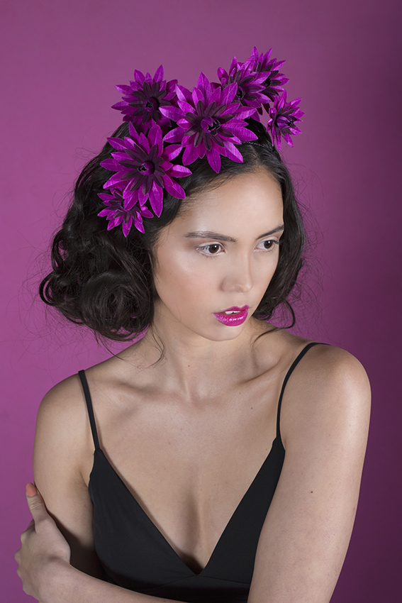 Pink Magenta Floral Headpiece Spring Racing 2015 Love Lotus Millinery