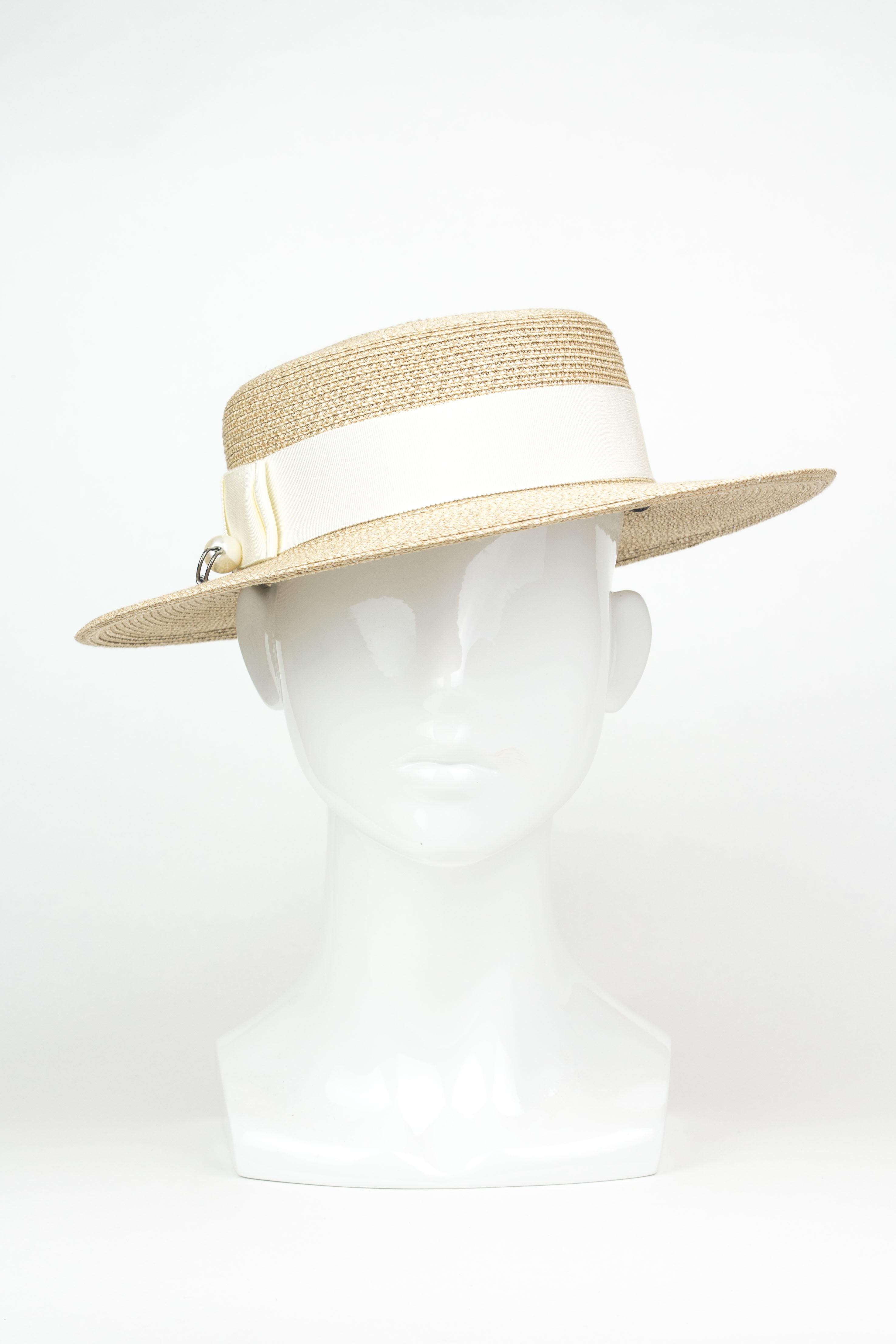 bf32e23edf5 (L-R  T-B) Max Fedora - Sequin Trim Brigitte Boater Hat Max Fedora - Bone  Marcel Boater Hat