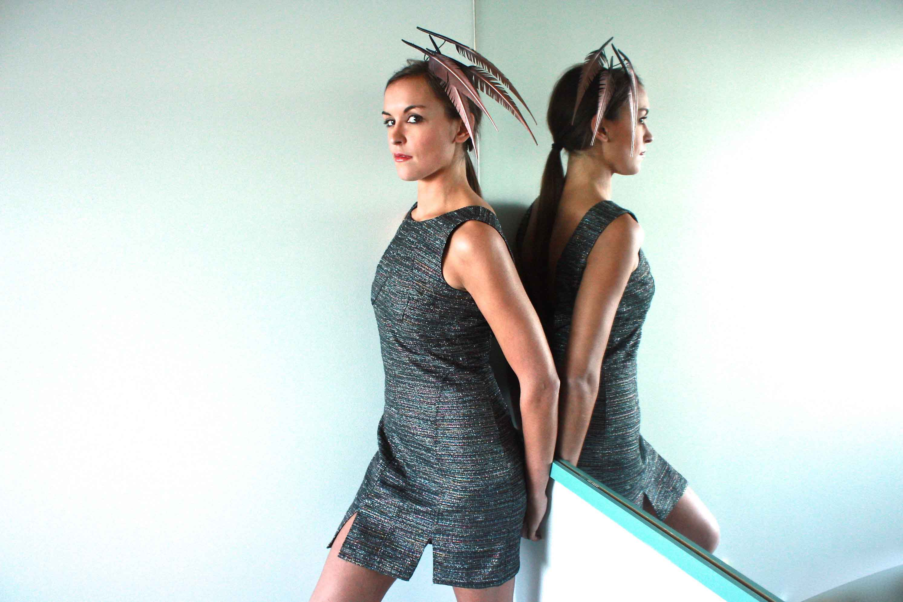 Copper Feather Headpiece by Kim Wiebenga Millinery
