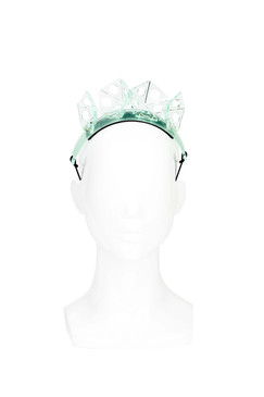 Perspex Cell Crown - Emerald Hexagon Headpiece by Keely Hunter
